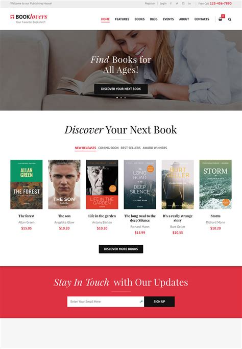 authors reluctant press e books 15 wordpress ebook themes made to boost author sales online