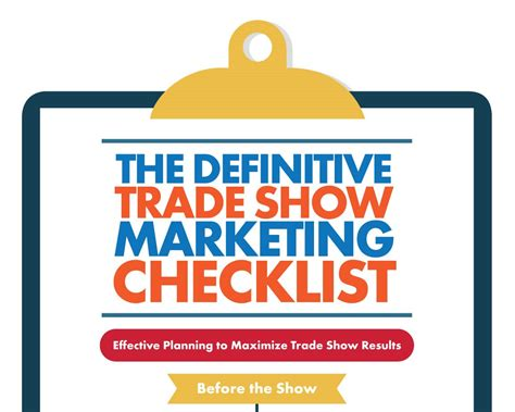 trade show checklist and marketing tips jyler marketing infographic exles 1000 infographic