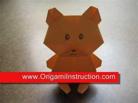 How To Make Paper Teddy - how to make an origami teddy
