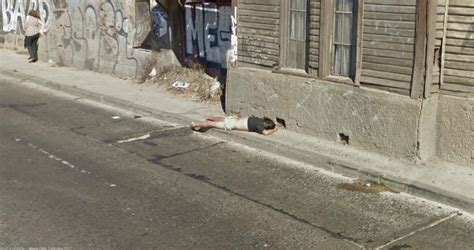 dead bodies on google street view down and out on the streets of chile google street view
