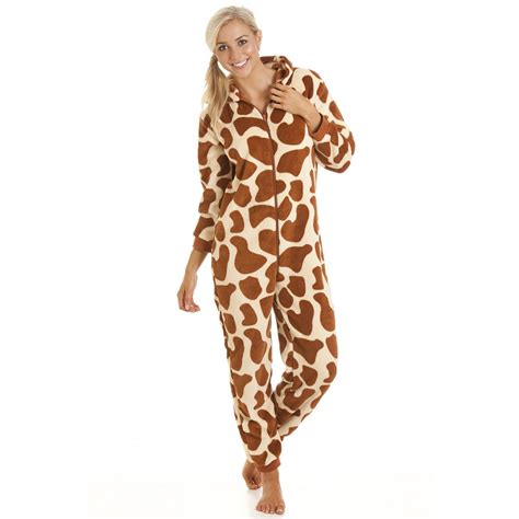 Romper Giraffi Pluss Slabber Sku25120 womens giraffe print onesie pyjama