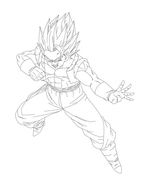 Gogeta Free Coloring Pages On Art Coloring Pages Gogeta Coloring Pages