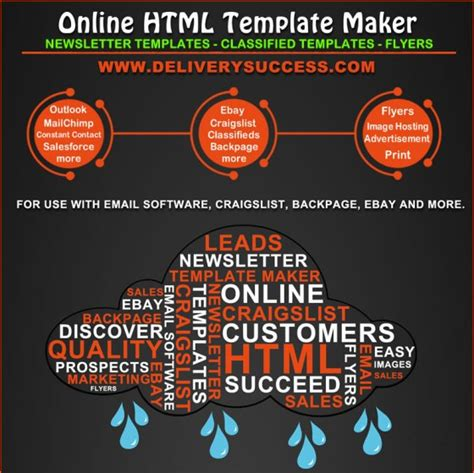 Online Html Template Maker For Email Marketing And Classified Ad Posting Infographic Html Template Maker