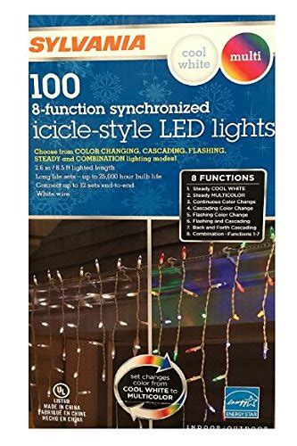 100 light led warm white icicle light set sylvania lights 100 icicle style led lights 8