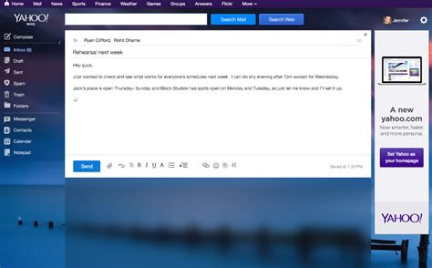 themes yahoo mail yahoo mail gets cross platform themes 1tb of storage