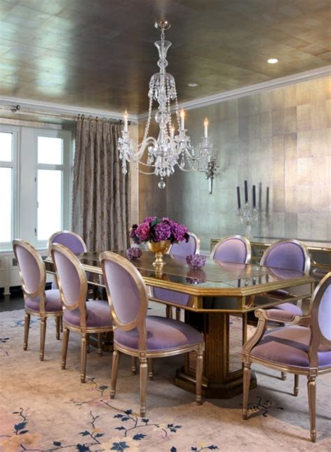 glamorous dining rooms 4 glamorous dining rooms with metallic accents and decorative rugs