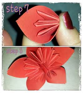 How To Make A Paper Flower Step By Step Easy - origami kusudama flower create by craft