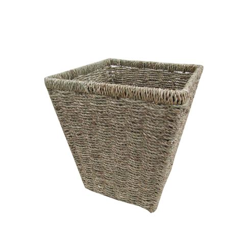 natural seagrass round wicker basket storage waste paper seagrass square waste paper bins basket ebay