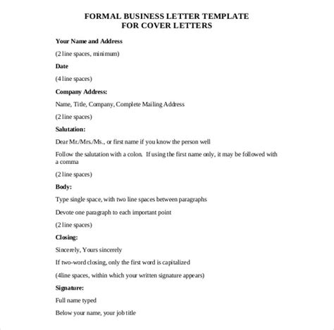 50 business letter templates pdf doc free premium