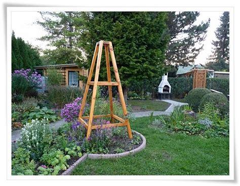 kletterhilfen für pflanzen rankgitter holz selber bauen bvrao