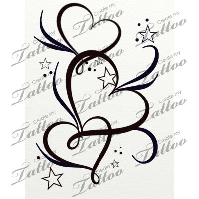 heart tattoo with numbers marketplace tattoo hearts stars and filigree 20764