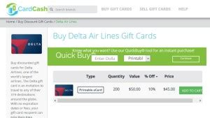 Where To Buy Delta Gift Cards - save 15 off 150 delta tickets via cardcash with delta e gift cards while supplies
