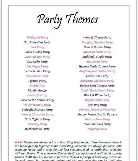 party themes for pure romance 81 best pure romance images on pinterest passion parties