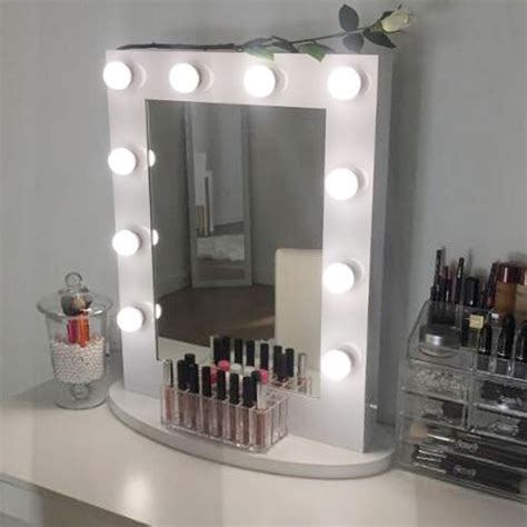 white mirror with lights white hollywood makeup vanity mirror with light aluminum