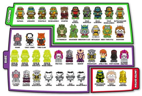 turtles all the way series 1 mutant turtles ooshies find your favorite
