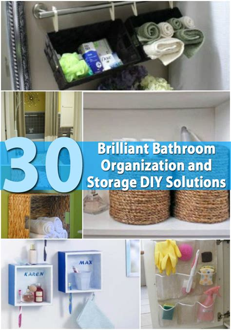 30 brilliant bathroom organization and storage diy solutions diy amp crafts