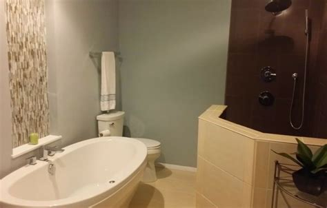 glass house strongsville this master bath makeover in strongsville oh features a free standing maax brand air