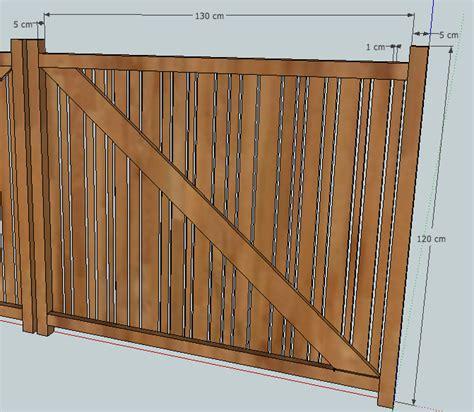 Fabriquer Un Portail En Bois 3577 by Projet Portail Battant En Bois