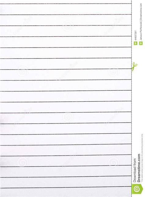 Word Vorlage Liniertes Blatt Blatt Papier In Den Linien Ein Hintergrund Stockfoto Bild 44637397