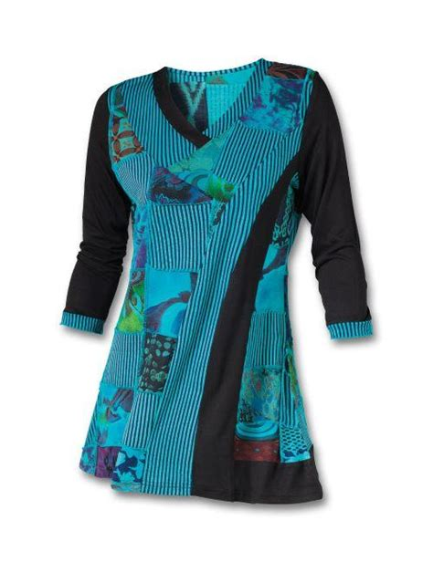 Patchwork Tunic - teal patchwork tunic southwest indian foundation