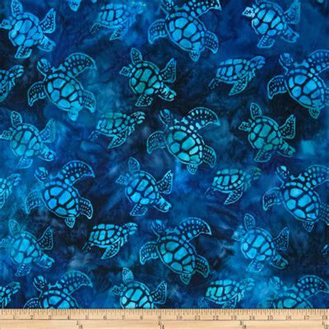 Batik Cp Keyla Navy artisan batiks totally tropical small turtles regatta discount designer fabric fabric