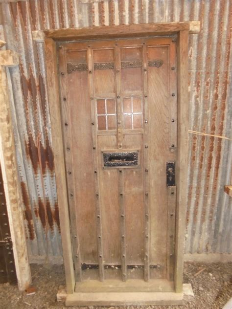 Studded Oak Front Door Authentic Reclamation Reclaimed Oak Front Door