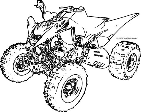 4 Wheeler Coloring Pages by Sport Atv Yamaha Raptor Coloring Page Wecoloringpage