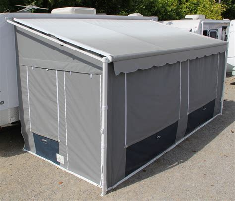 complete rv awning alpine canvas products rv awning walls