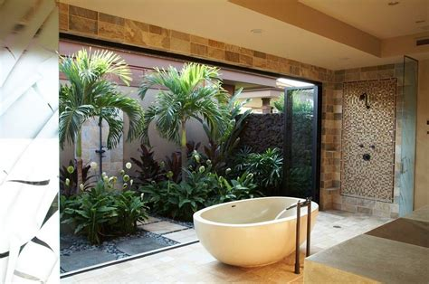 tropical bathroom ideas indoor garden ideas