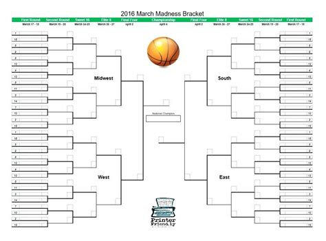 blank march madness bracket template blank march madness bracket template gallery template