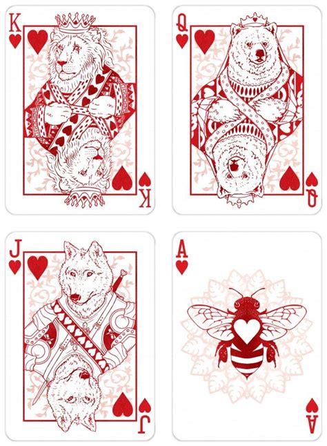wild card tattoo card design animals