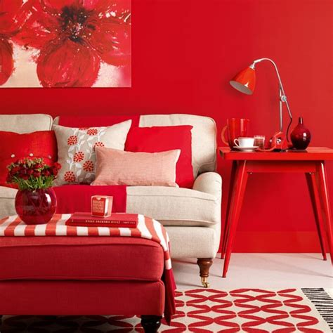 red livingroom modern red living room living room design housetohome