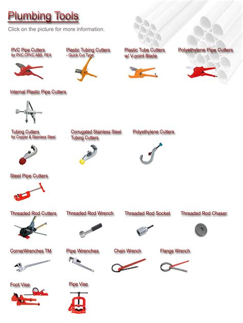 Names Of Plumbing Tools by Plumbing Tools Mcc Professional Tools