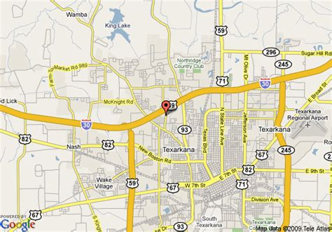 map of texarkana texas map of inn express hotel suites texarkana texarkana