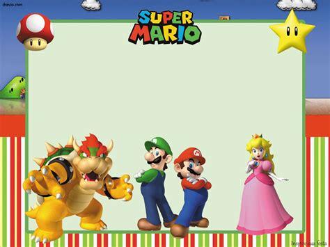 Free Printable Super Mario Bros Invitation Template Free Invitation Templates Drevio Mario Invitations Template Free