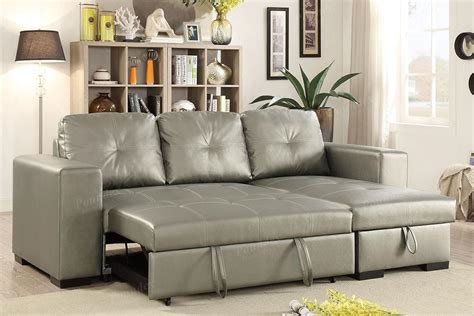Silver Sectional Sofa silver leather sectional sofa and ottoman a sofa