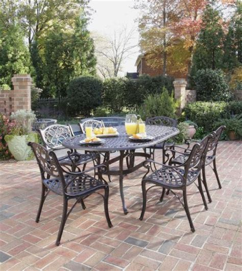 Patio Dining Sets Clearance Sale Patio Sets Clearance Home Styles 5555 338 Biscayne 7 Outdoor Dining Set Rust Bronze