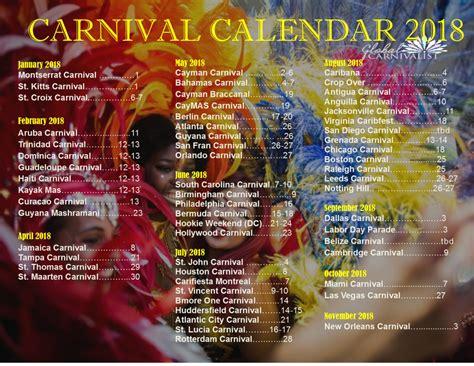 Bahamas Calend 2018 Carnival Calendar
