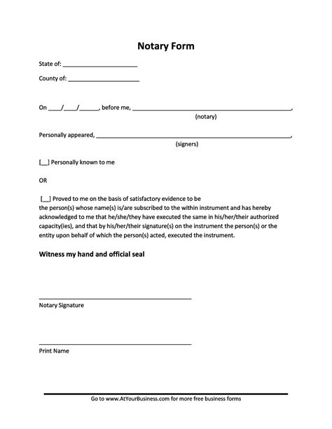 professional notarized letter templates templatelab