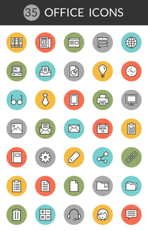 icon design office 14 free line icon sets and icon fonts for apps and