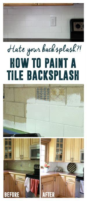 before and after painted tile backsplash curbly how to paint a tile backsplash bright green door