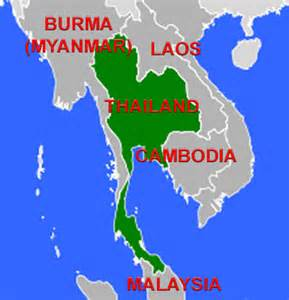 Thailand World Map Location by Thailand Lesson
