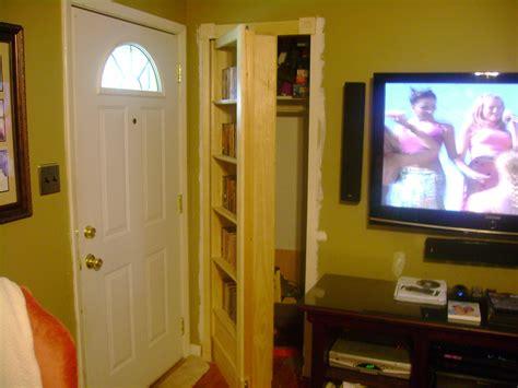 woodwork   build  hidden bookshelf door  plans