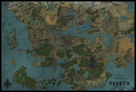 faerun map map commission alternate faerun by levodoom on deviantart