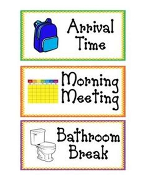 printable schedule cards for preschool visual cue cue cards and picture cards on pinterest