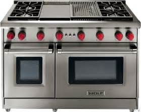 Wolf gr488x 48 inch pro style gas range with 8 dual stacked sealed