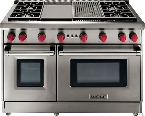 Wolf Range Knobs by Wolf Gr486cx 48 Quot Pro Style Gas Range With 6 Dual Stacked