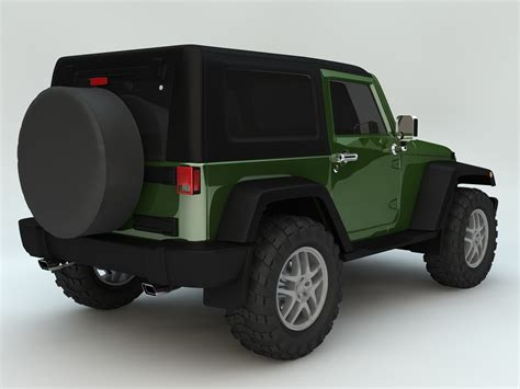 jeep wrangler rubicon 2007 3d model automobile autos c4d ar vr