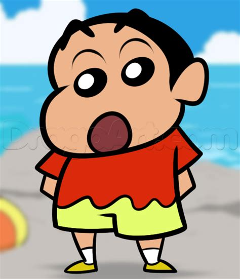 shin chan how to draw shin chan step by step anime characters