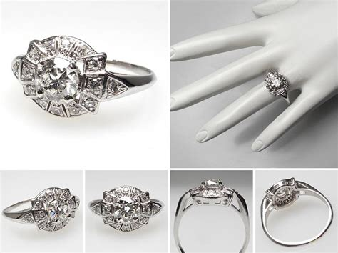engagement rings vintage deco vintage and antique engagement rings from eragem chic vintage brides